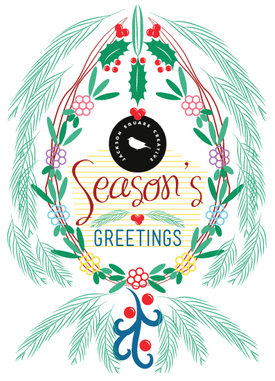 business holiday cards - A Floral Decorative Season's Greetings by Famenxt