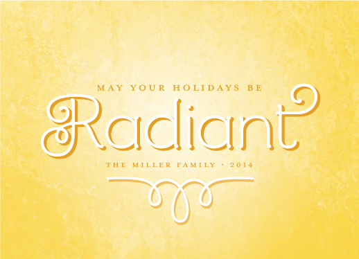 non-photo holiday cards - be radiant by Kimberly Chow