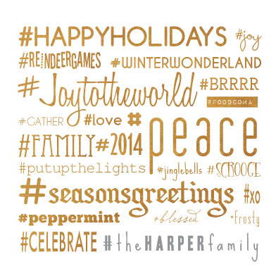 non-photo holiday cards - Hashtags Only by Denise Troy