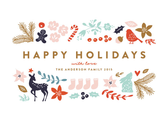 non-photo holiday cards - All the Pretties by Phrosne Ras