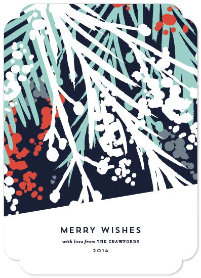 non-photo holiday cards - Merry Wishes by Angela Marzuki