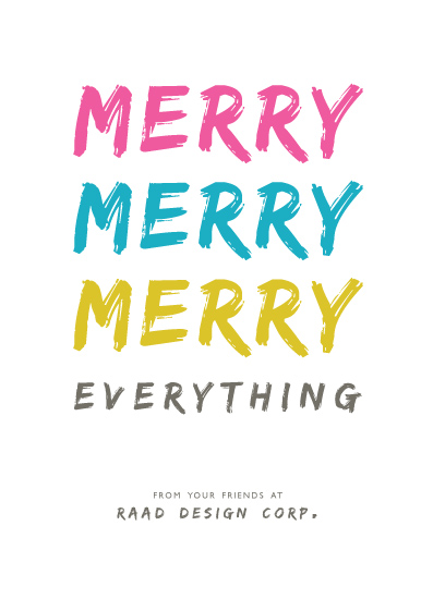 business holiday cards - Merried by Bethany Anderson