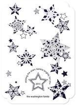 snowflake stars twinkli... by Megan Spinder