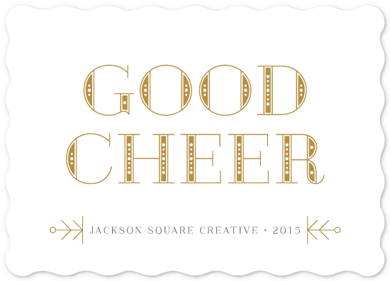 business holiday cards - Dotted Good Cheer by Lehan Veenker