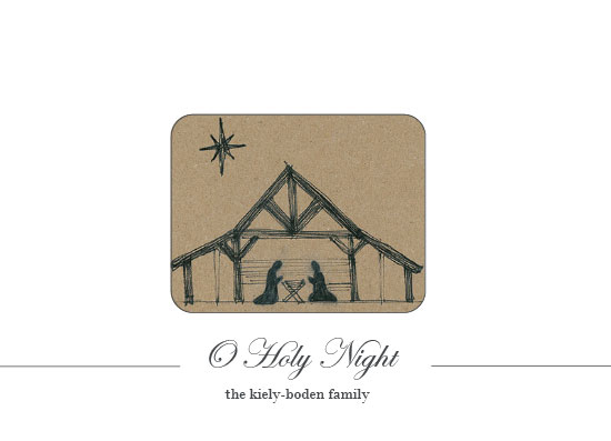 non-photo holiday cards - nativity o holy night by Megan Spinder