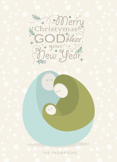 non-photo holiday cards - Jesus Born Holiday Card by Ligia Kuhn