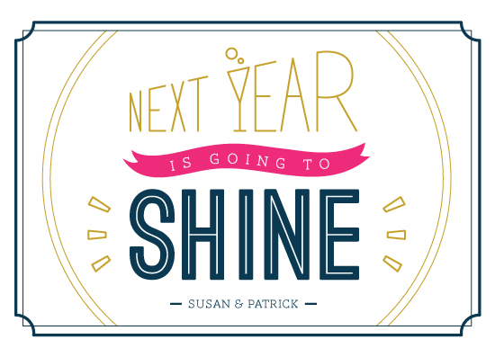 non-photo holiday cards - Shining New Year by Ele Papers