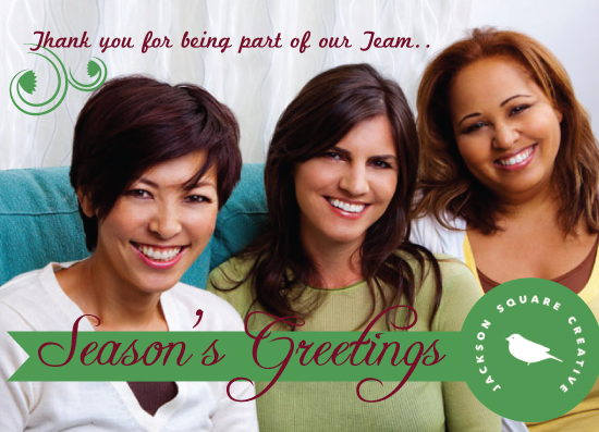 business holiday cards - A Seasons Greeting from our Team by Famenxt