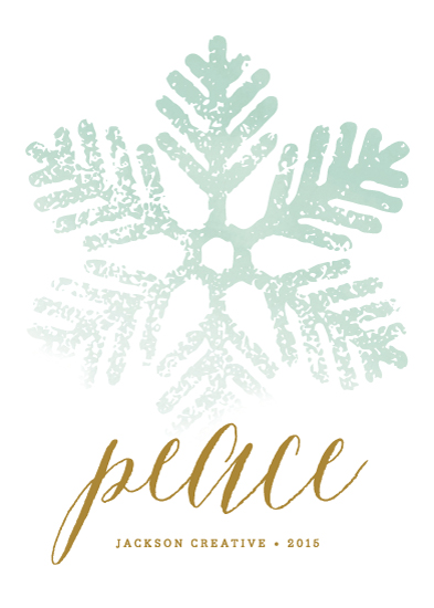 business holiday cards - Frosted Snowflake by Lehan Veenker