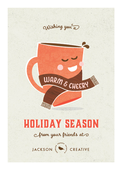 business holiday cards - Cheery Cocoa by Kimberly Morgan