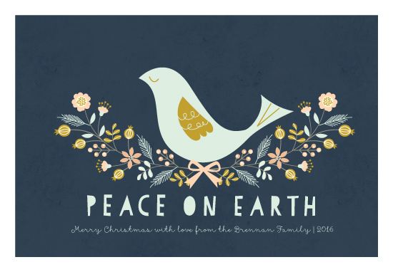 non-photo holiday cards - Nordic Peace Dove by Coco and Ellie Design