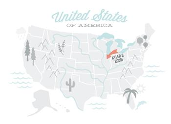 You Are Here American Map