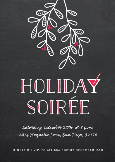party invitations - Festive Mistletoe by Erica Krystek