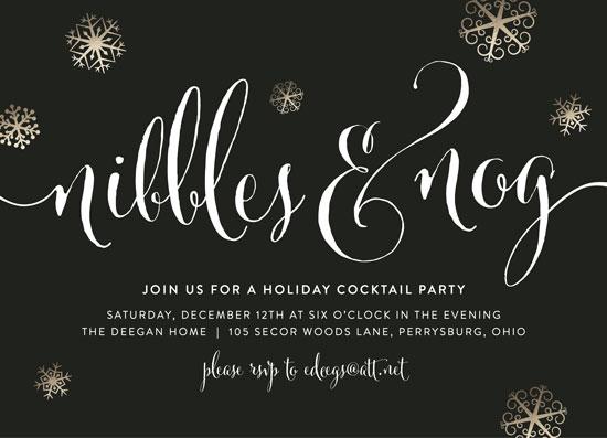 party invitations - nibbles and nog by Erin Deegan