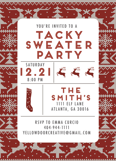 party invitations - Tacky Sweater Party by Yellow Door Creative