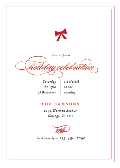 party invitations - Chic Celebration by Kimberly FitzSimons