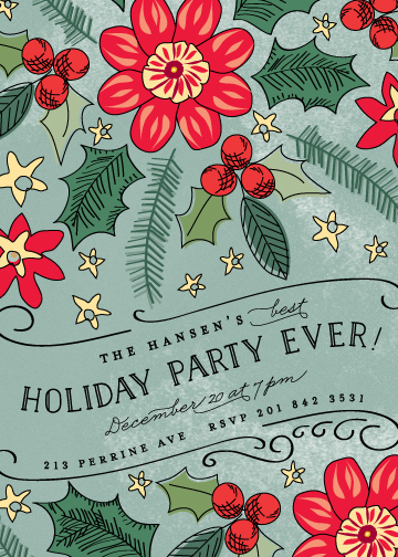 party invitations - Best Holiday Party Ever by Chris Griffith
