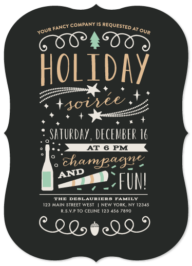 party invitations - Fun Holiday Soiree by Bonjour Paper