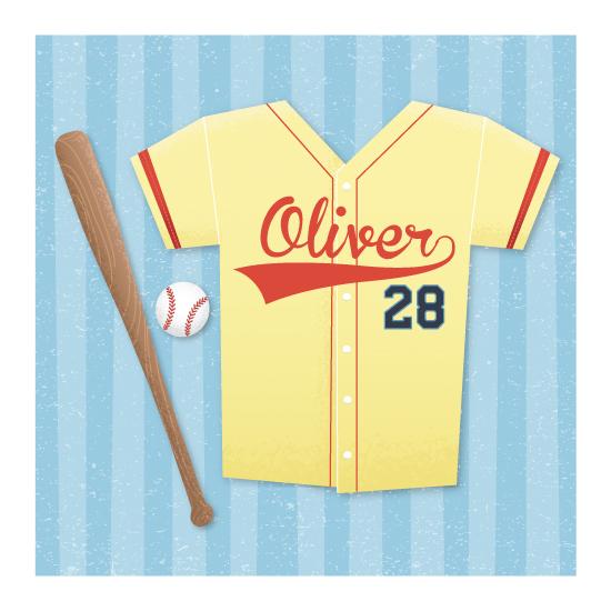 art prints - Baseball Shirt by La Rue Pulido