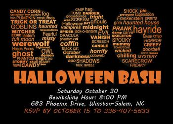 BOO Halloween Bash Party Invite