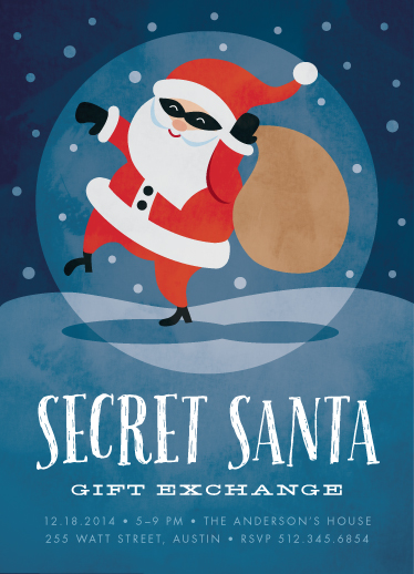 party invitations - secret santa by Susan Asbill