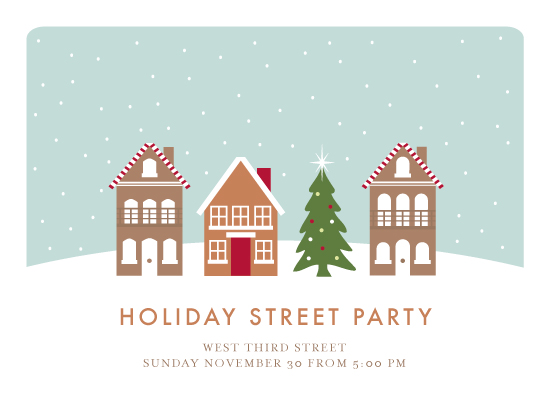 party invitations - Holiday Street Party by Kampai Designs