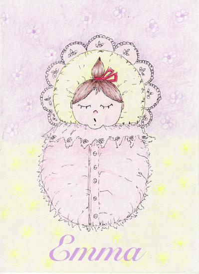 art prints - New born baby girl by Marta