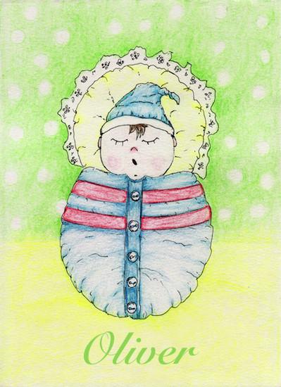art prints - New born baby boy by Marta
