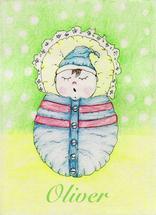 New born baby boy by Marta