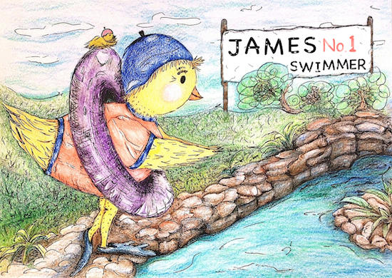 art prints - No1 swimmer by Marta