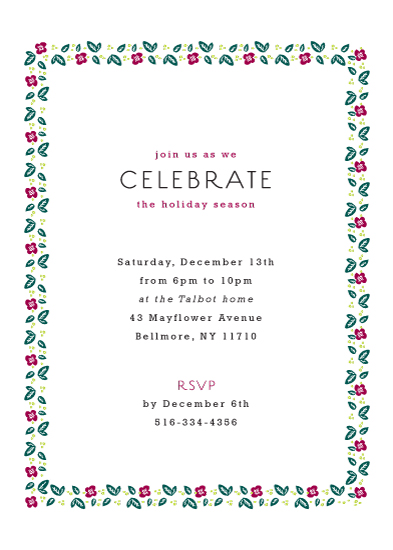 party invitations - Minimal Wreath by Jackie Mangiolino