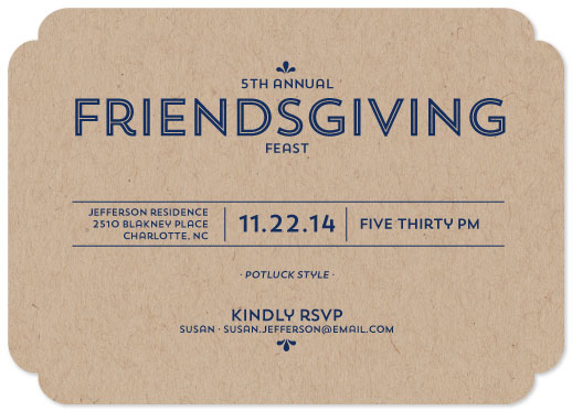 party invitations friendsgiving feast at minted com