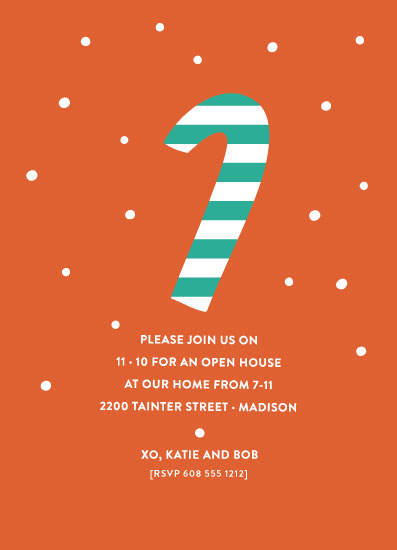 party invitations - Candy Cane by Susan Brown