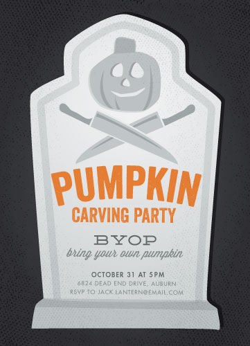 party invitations - Pumpkin Carving by Jessie Steury
