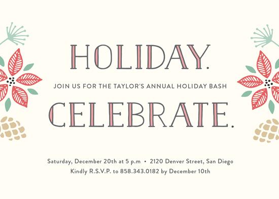 party invitations - Holiday. Celebrate. by Erica Krystek