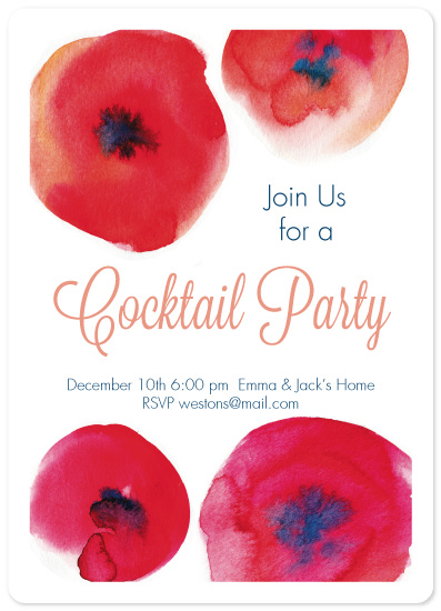 party invitations - Red and stylish by Alexandra Dzh
