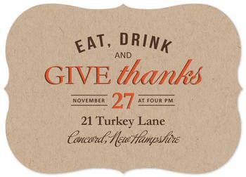 Eat, Drink and Give Thanks