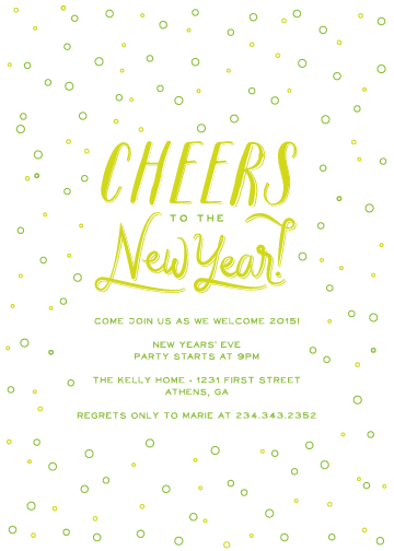 party invitations - Bubbly Cheers by katrina gem