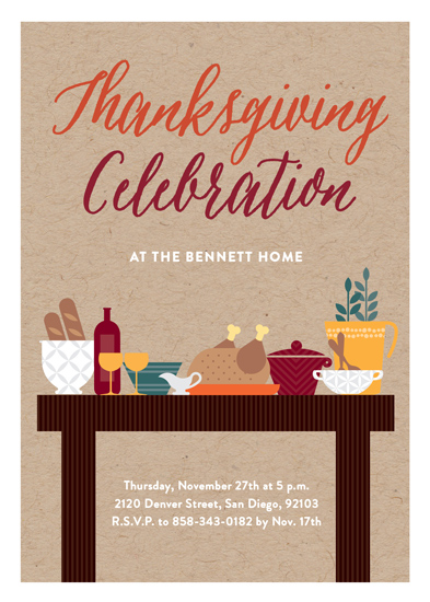 party invitations - Thanksgiving Feast by Erica Krystek