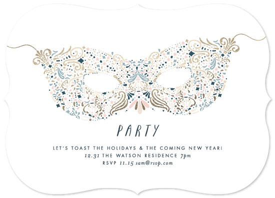 party invitations - Holiday Mask by Phrosne Ras