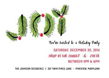 Joy Twigs Party Invitation