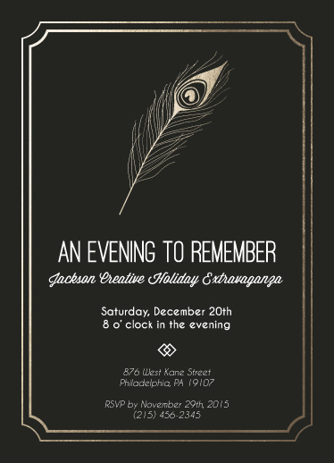 party invitations - An Evening to Remember by PotatoMuffin
