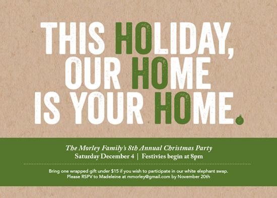 party invitations - Ho Ho Ho Holiday by Kristin Levesque