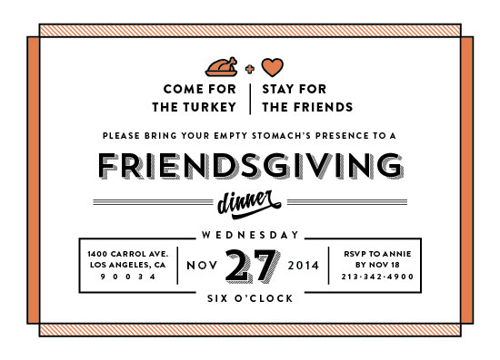 party invitations - friendsgiving by Aspacia Kusulas