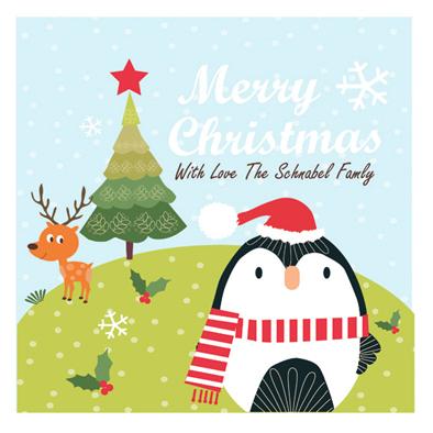 party invitations - Happy Merry Christmas by Tamara Csengeri