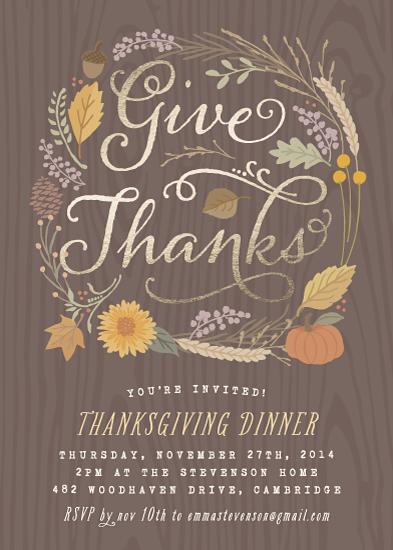 party invitations - Fall Foliage by Hooray Creative