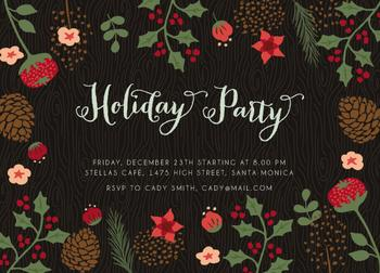 Holiday flower party