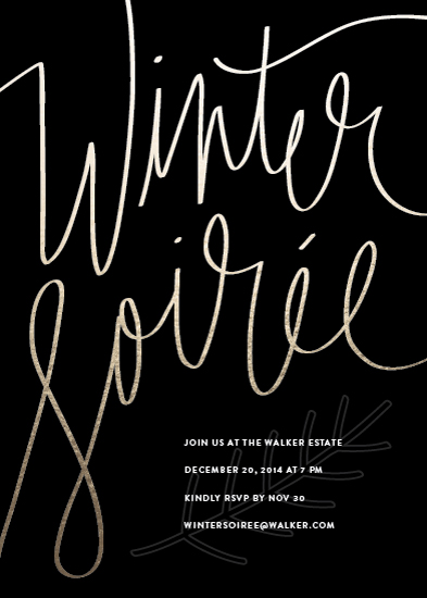 party invitations - winter soirée by Guess What Design Studio
