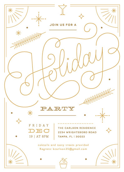 party invitations - Sparkling Holiday Soiree by Kristen Smith