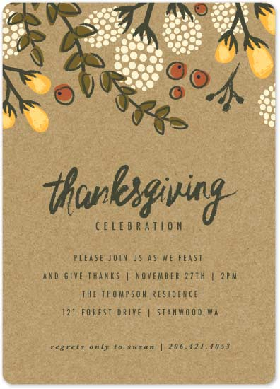 party invitations - Festive Autumn Foliage by Karidy Walker
